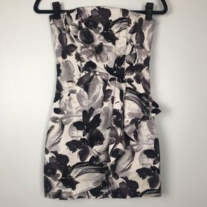 Rubber Ducky Productions Floral Strapless Dress